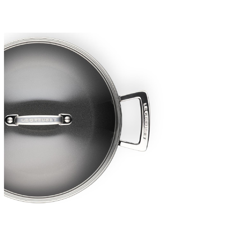 Кастрюля низкая со стеклянной крышкой 24 см