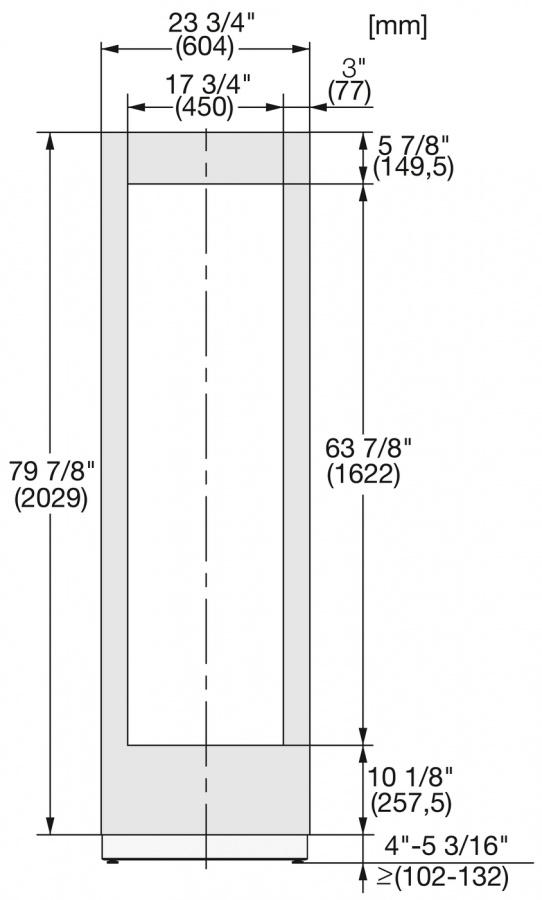 Фронтальная панель KFP 2455 ed/cs