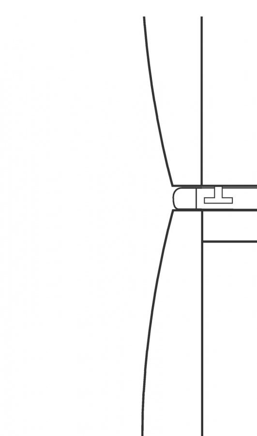 Монтажный комплект для установки в колонну WTV412 белый лотос