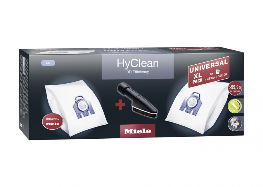 Комплект мешков-пылесборников Universal XL pack HyClean 3D GN