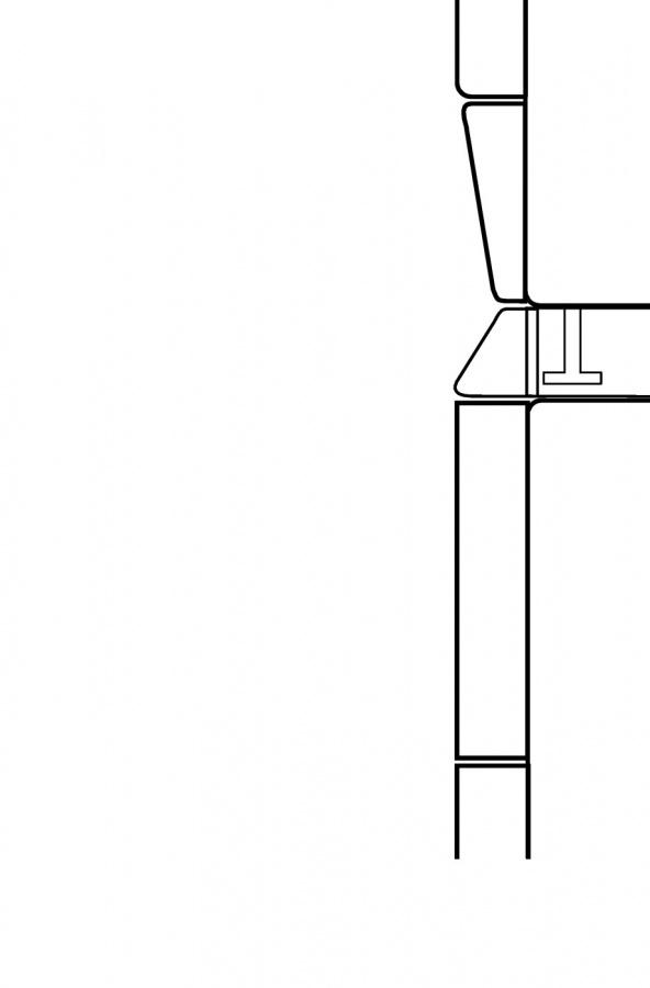 Монтажный комплект для установки в колонну WTV406 белый лотос