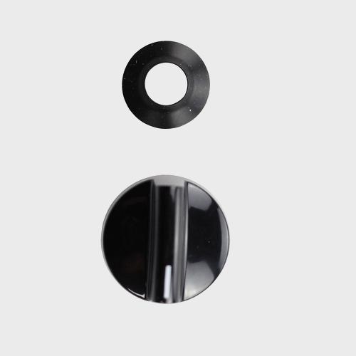 Поворотный переключатель / черный, d 38 мм
