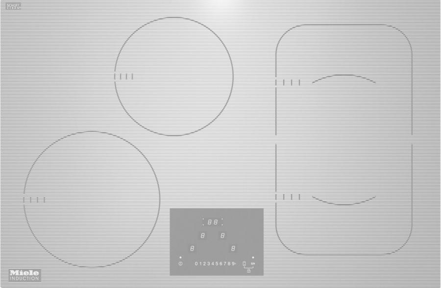 Панель конфорок KM6349-1 белый встр.заподлицо